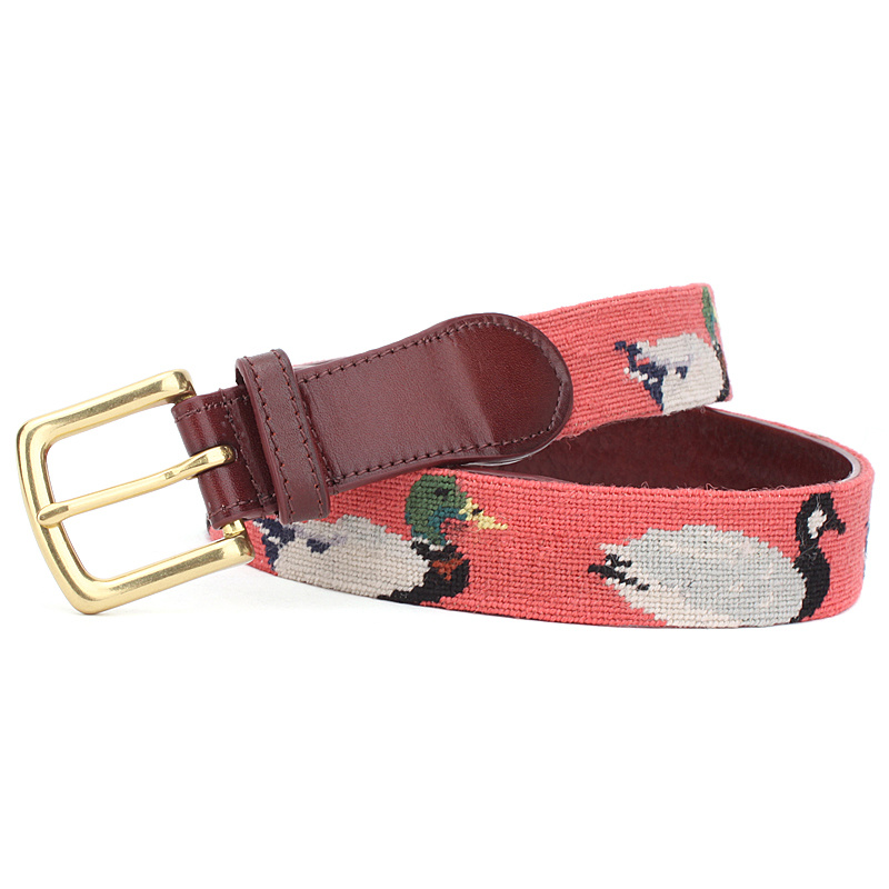 Fashion Handmade Needle Point Golf Belt (SR-131246D)