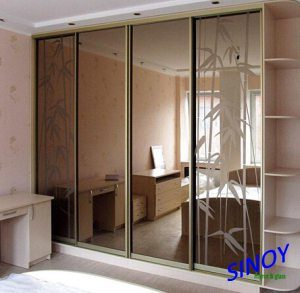 Silver Coated Golden Bronze or Euro Bronze Tinted Mirror Glass for Home Decor and Interior Applications