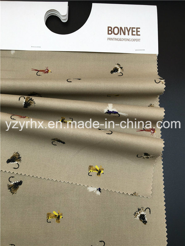 Finished Farbic 100% Cotton Poplin Brown Ground Printed Little Animals