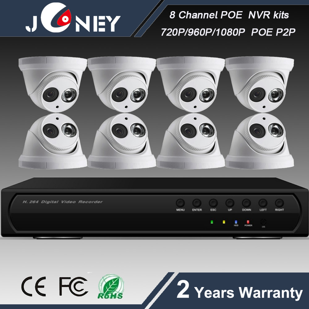 H. 264 Onvif CCTV System 8 Channel Poe NVR Kit