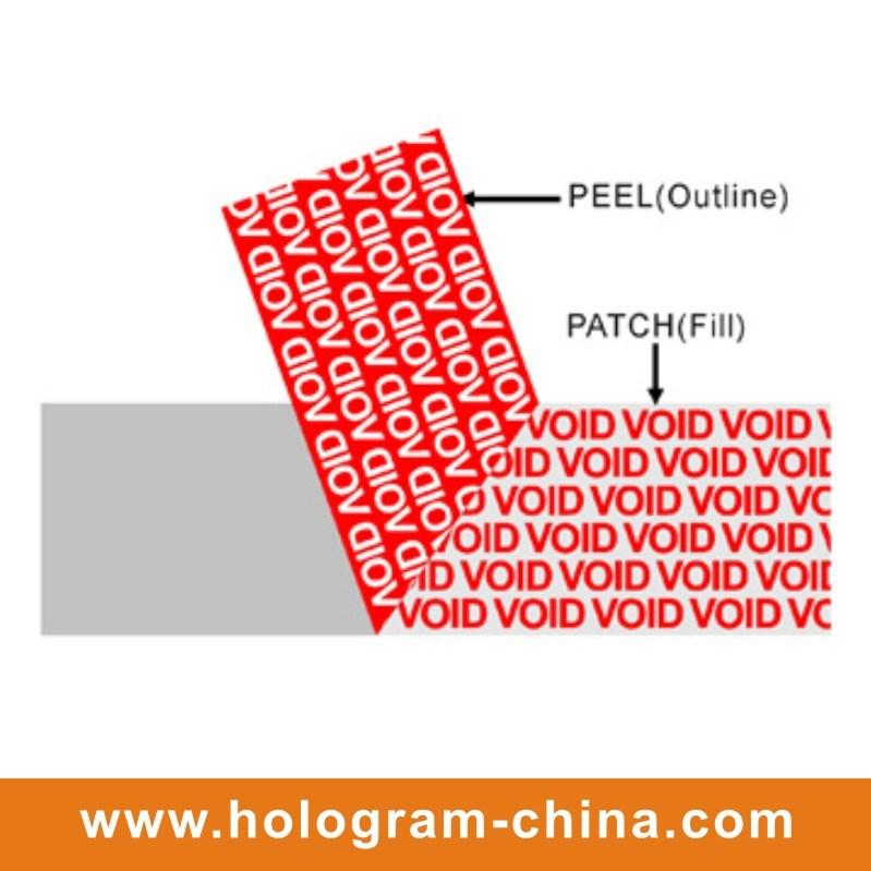 Void Tamper Evident Embossing Aluminum Foil