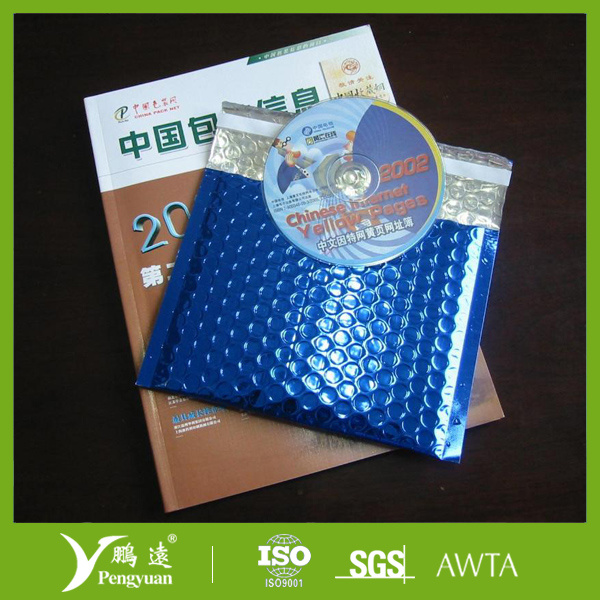 Multicolor Metallic Bubble Envelope for Protective Shipping of Gifts