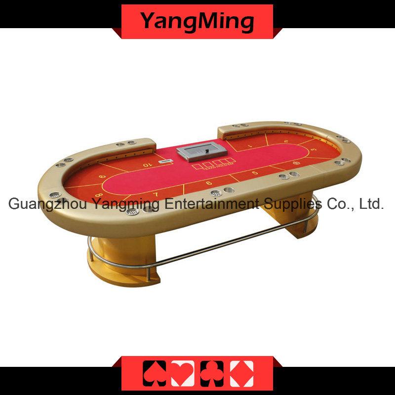 Gold LED Texas Poker Casino Table (YM-TB015)