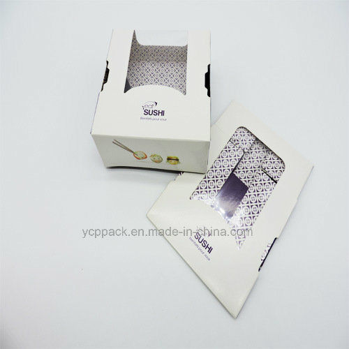 Disposable Food Box Sushi Paper Box with Window