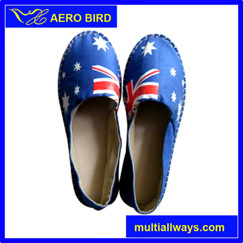 Casual Style Canvas Shoe with Flag Print