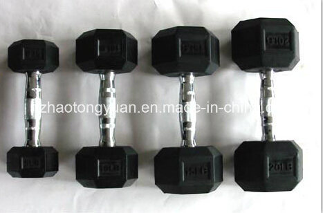 Hexagnal Rubber Coated Dumbbell