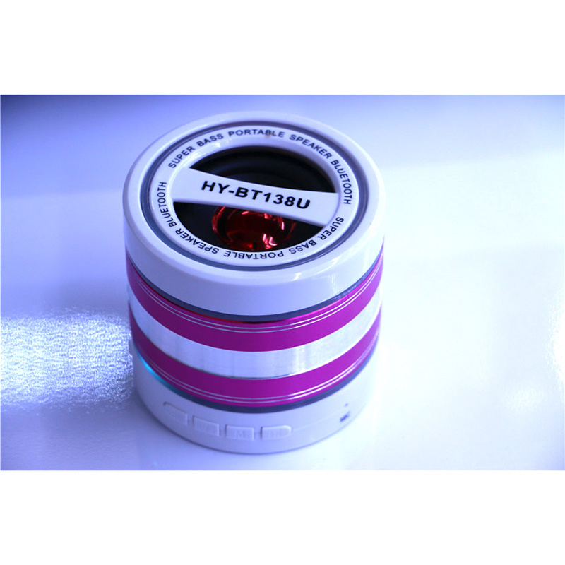 Wholesale Colorful LED Light Customized Bluetooth Speaker with Call Function