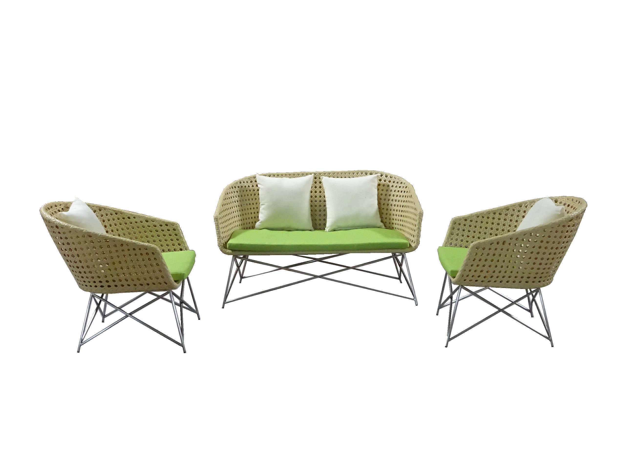 New Design Outdoor Furniture Sofa Set Garden Furniture Stainless Steel Sofa Set