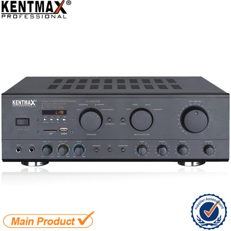 AV-603 Philippines Market 100W Karaoke Power Amplifier with Bluetooth