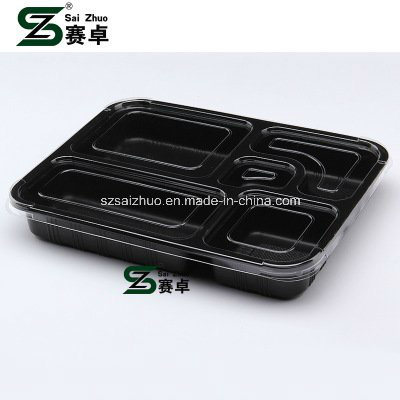 5 Compartment Top Grade Thicken Disposable Plastic Fast Food Container