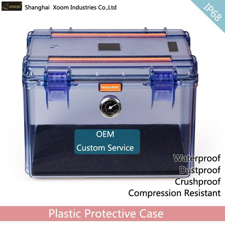 with Dryer Military Hard Case Clear Waterproof Detection Equipment Case