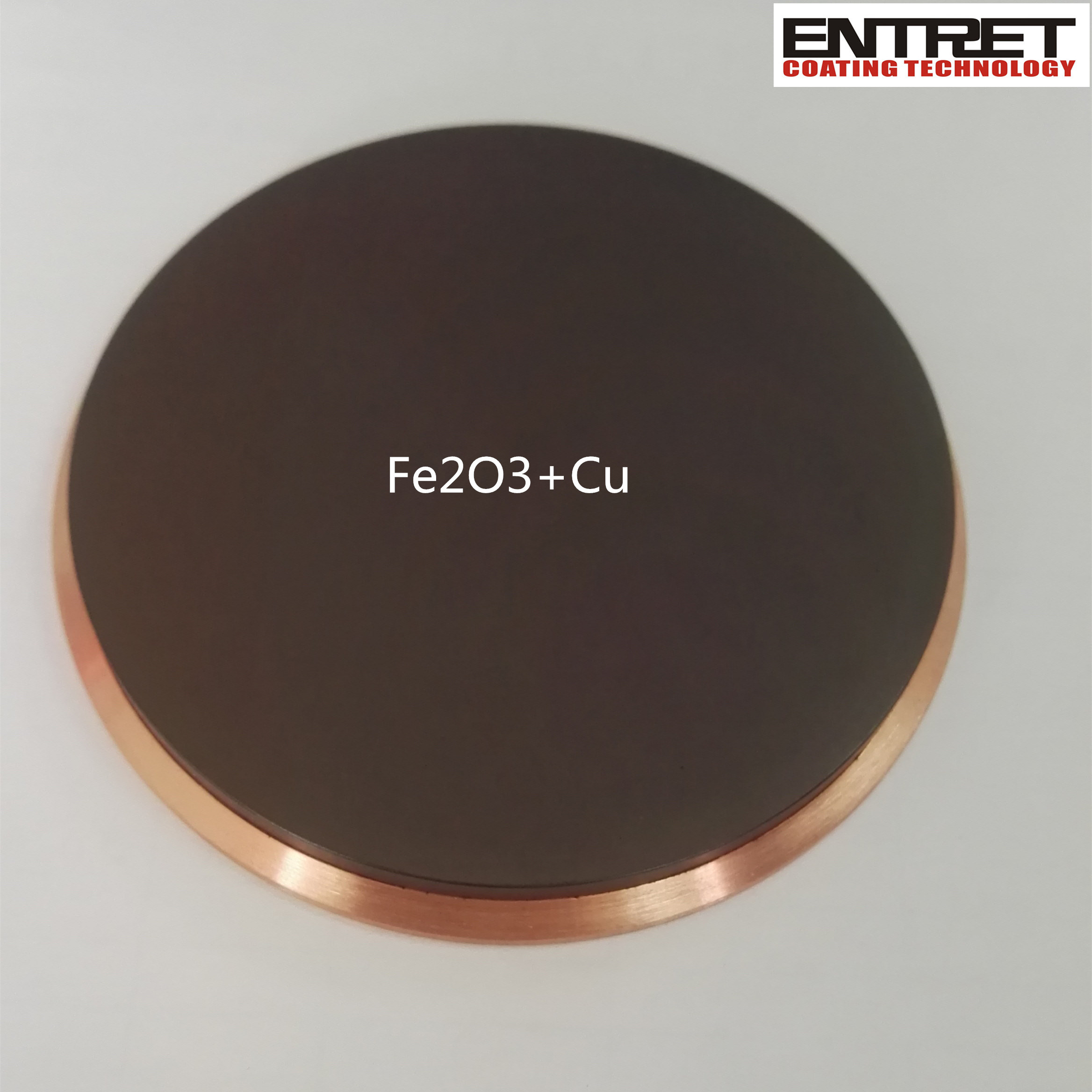 Sputtering Target: Fe2o3 Target with Cu Backing Plate at 99.9% Purity