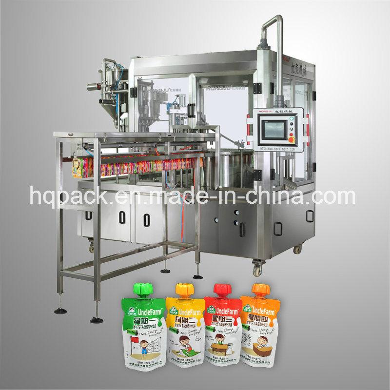 Automatic 90g Yogurt Pouch Filling Capping Machine