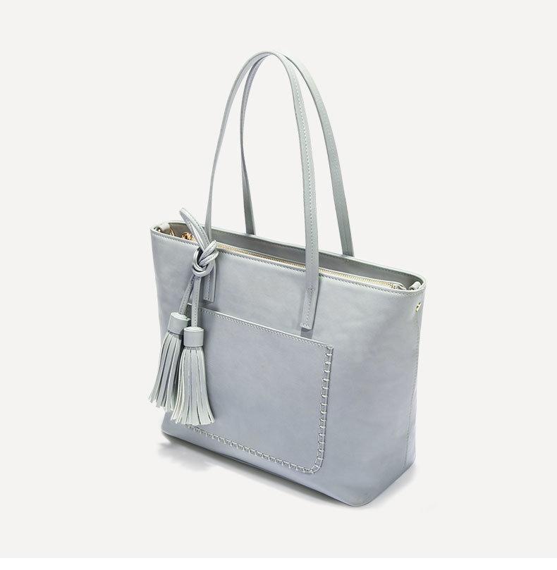 Large-Capacity Tote Bag Simple PU Leather Women Handbags