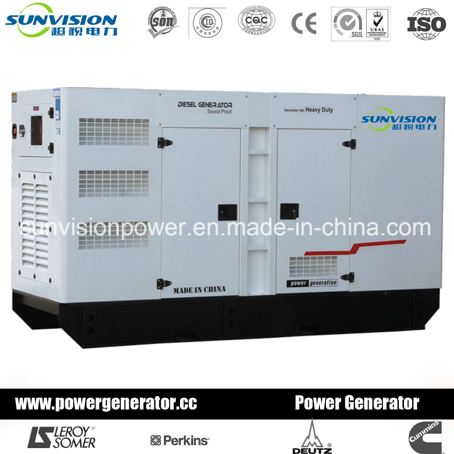 Diesel Genset with Mitsubishi Engine, Generator with Enclosure 20kVA