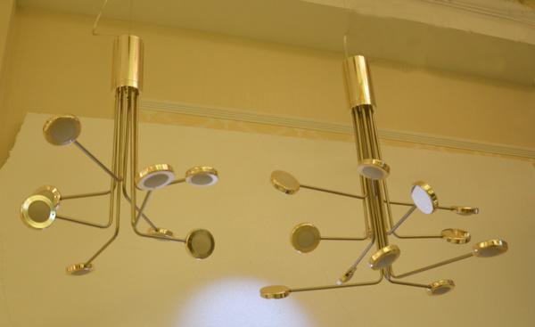 Gold/ Nickel Decorative Modern Home LED Pendant Chandelier Light Lighting for restaurant, LED 3W Per Arm, Can Be Removed 360 Degree