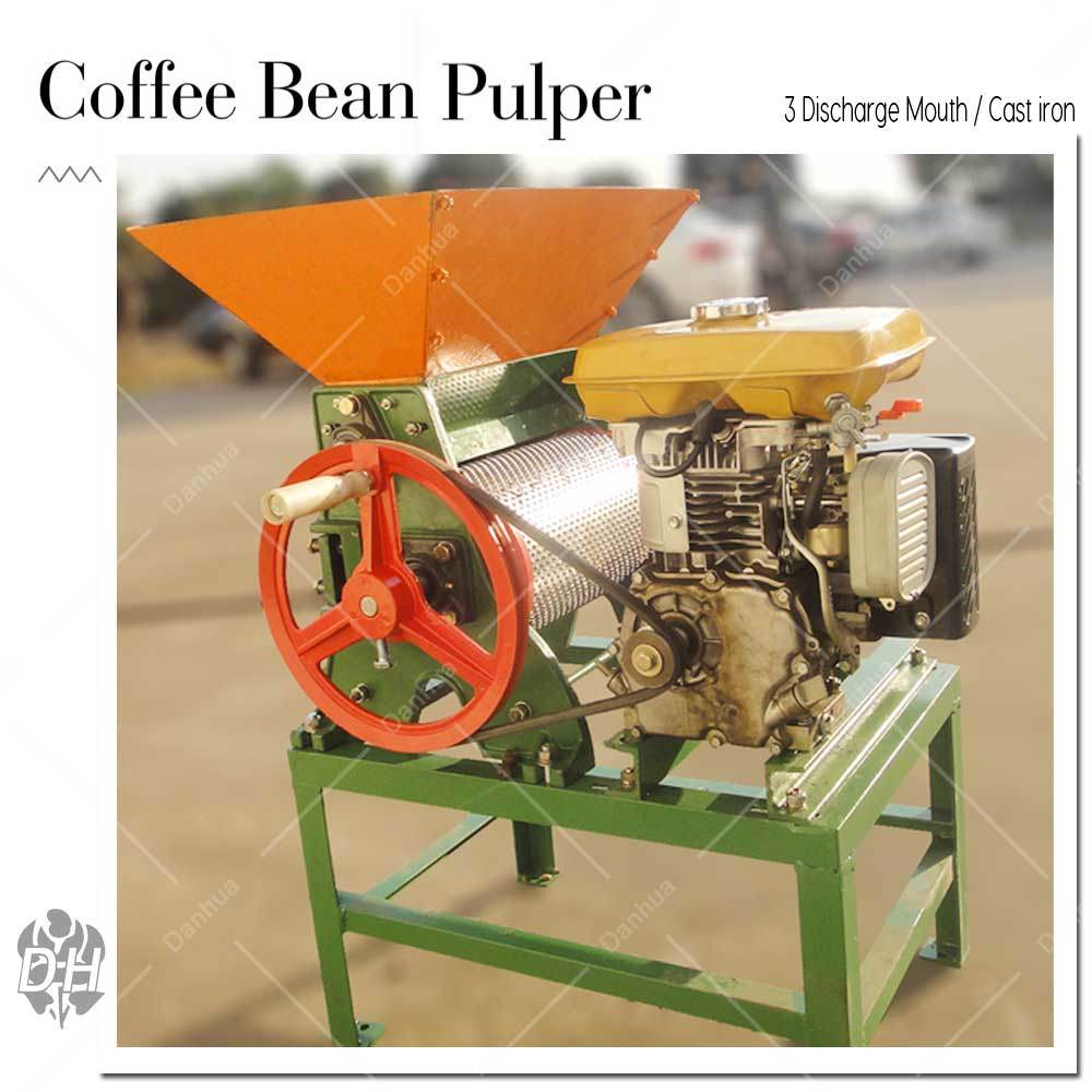 Big Capacity 3 Discharge Mouth Coffee Bean Pulper (Gasoline Engine)