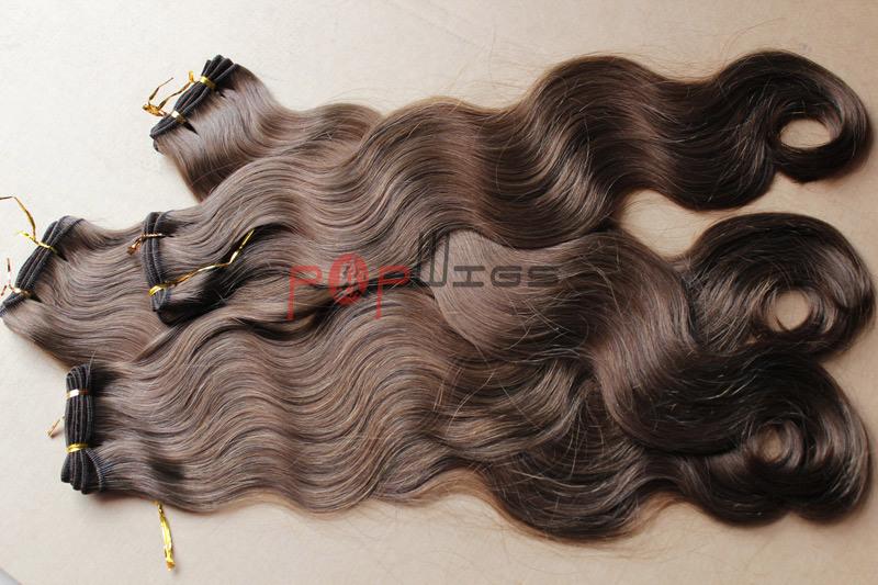 Human Natural Color Full Cuticle Hair Body Wavy Hair Weaving