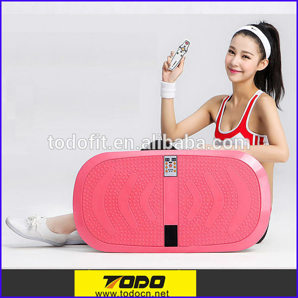 Home Fitness Equipment Dual Motor Vibration Platform Machine with 200W