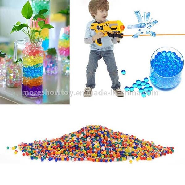 Bullet Gel Ball Mini Round Blue Crystal Soil Water Beads
