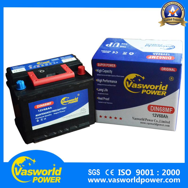 Best Selling DIN68 Market Maintenance Free Car Battery