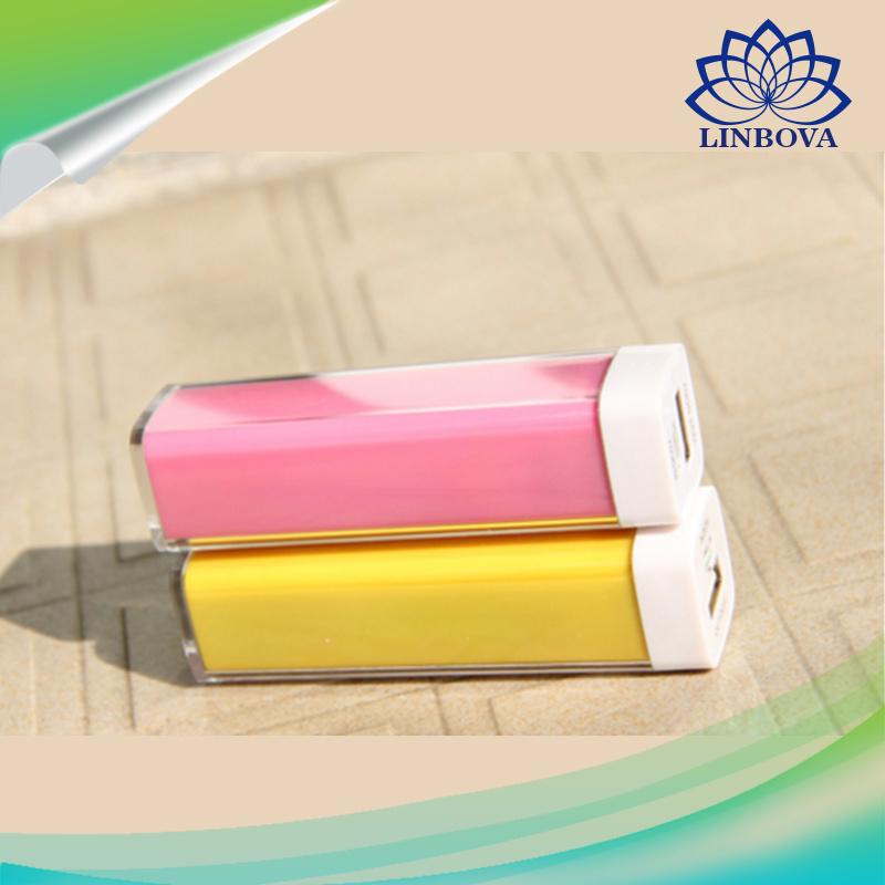 OEM Plastic Pipe Lipstick Power Bank 2600mAh