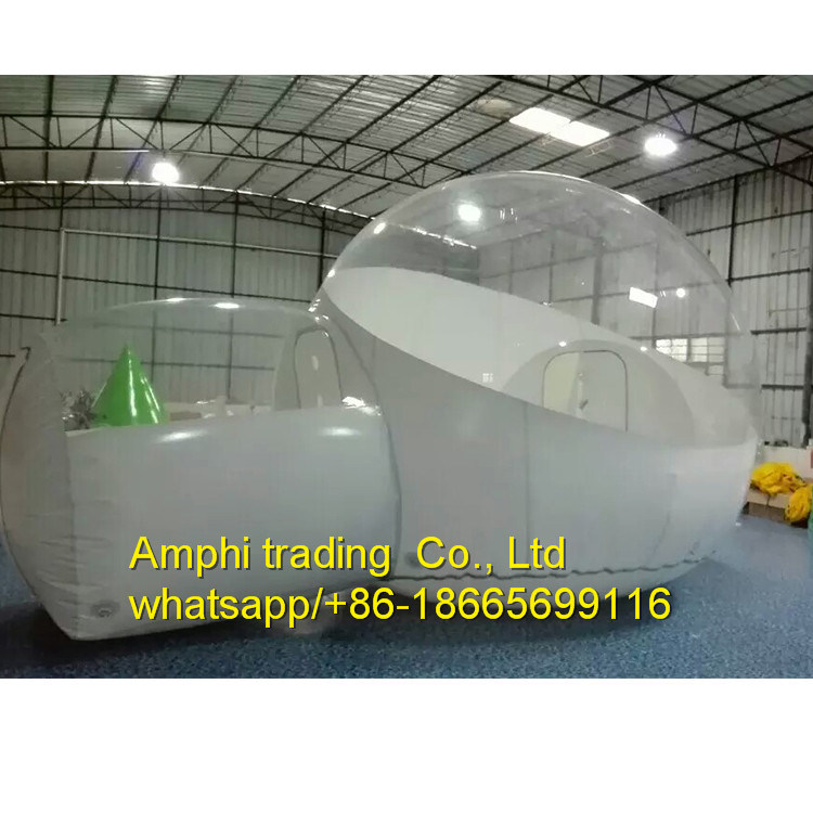 Outdoor Camping Clear Inflatable Bubble Tent with Tunnel/Movable Inflatable Hotel Romantic