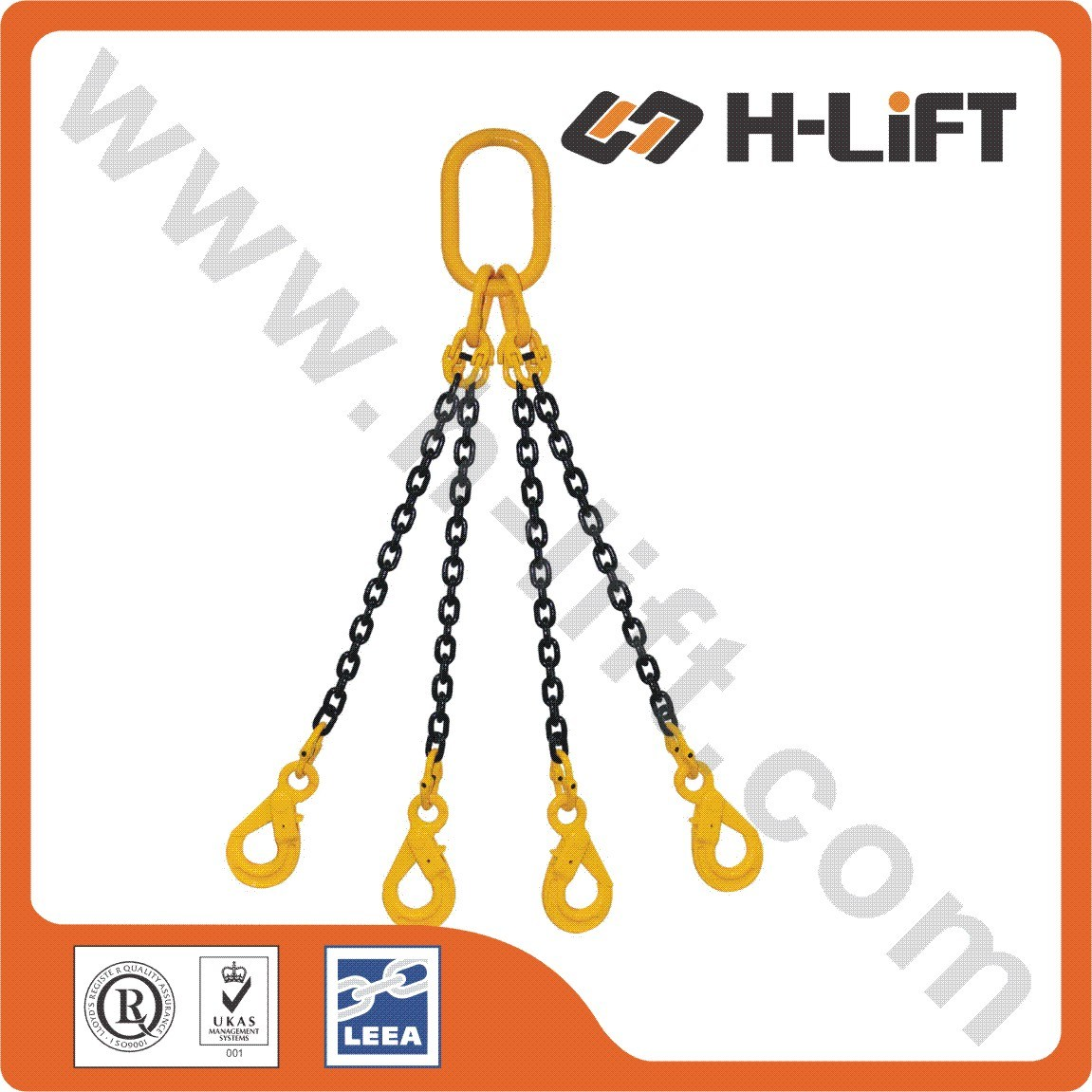 Grade 80 Alloy Steel Chain Sling / Chain Lifting Sling