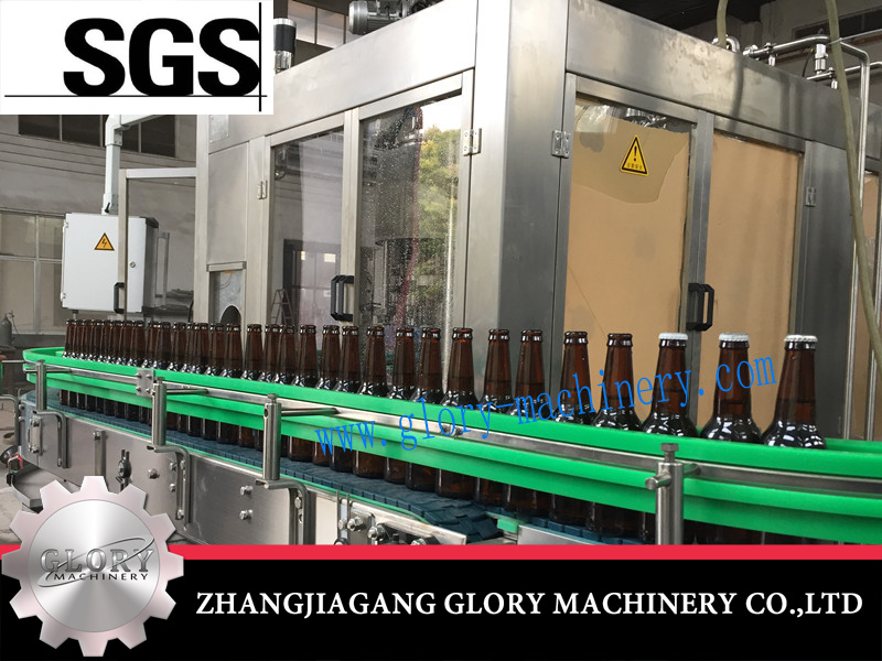 Automatic Glass Bottle with Crown Cap Beer Filling Capping Machine