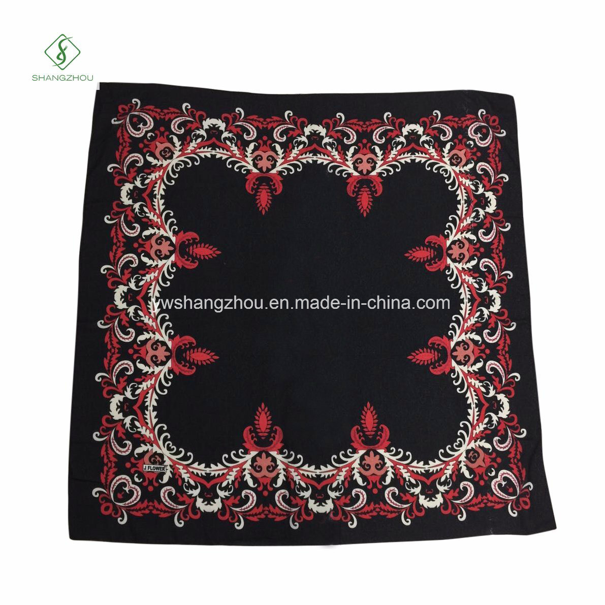New Fashion Big Square Scarf French Cotton Printed Muslim Hijab