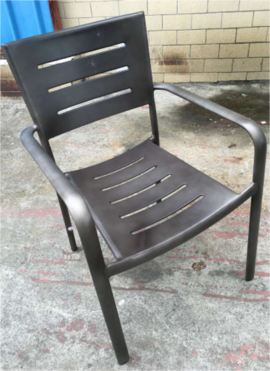 Restaurant Chair Outdoor Alum Chair Industrial Dining Chair