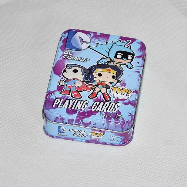 Custom Play Card Packaging Tin Box with Hinged Lid