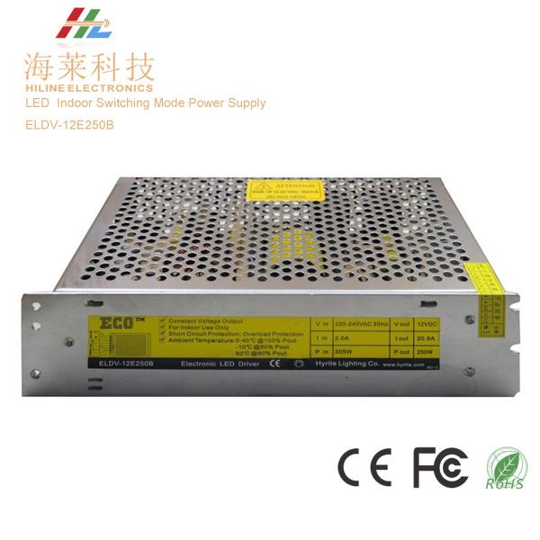 Indoor Switching Mode LED Power Supply 250W Eldv-12e250b