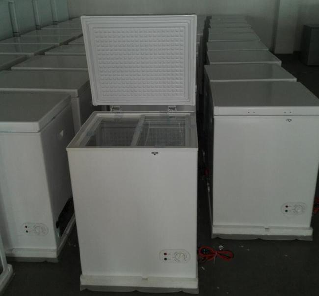 12/24V Solar Vertical Deep Freezer with High DC Compressor