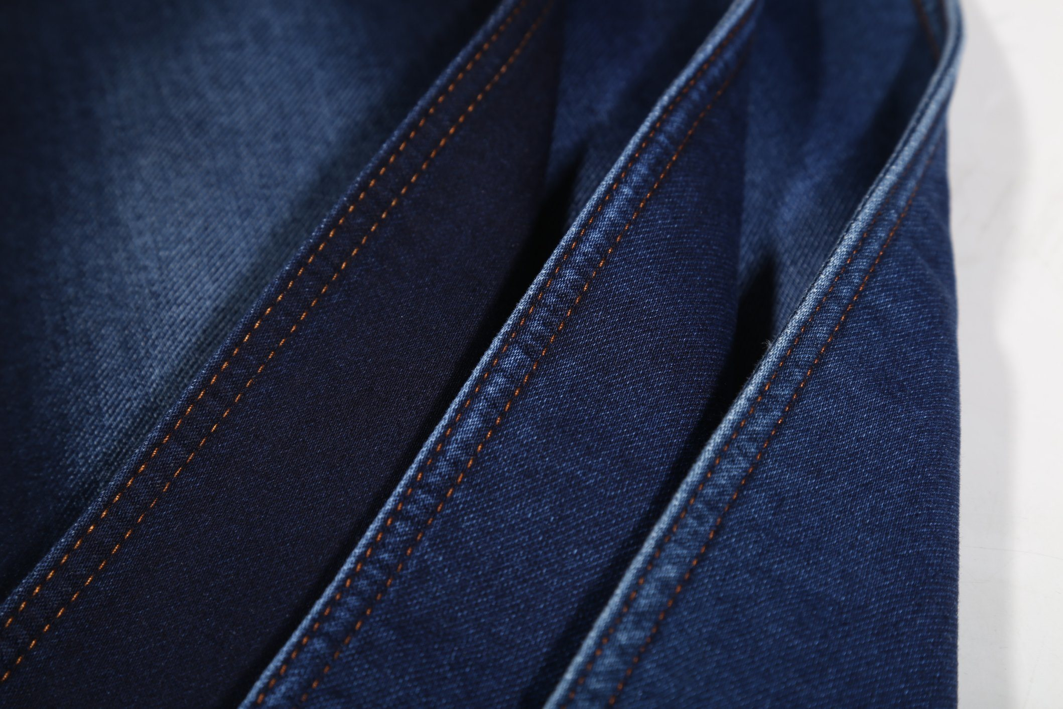Indigo Color, Super Soft Wearing Terry Denim fabric