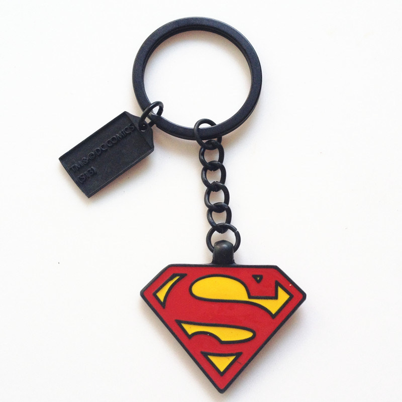 Marvel Zinc Alloy Key Chains Rings Super Hero Superman Keychain Batman Pendant Keyrings