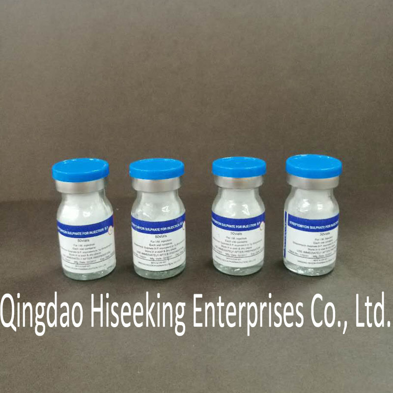 GMP Certified Pharmaceutical Chemicals Streptomycin Sulphate Injection B. P.