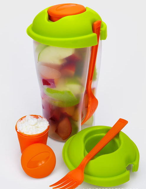 Manax Salad-to-Go Cup with Dressing Container Salad Cup