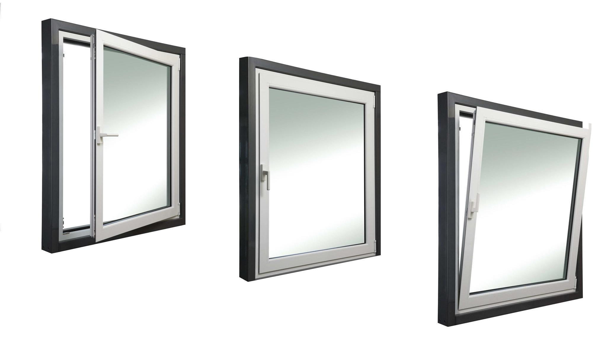 Aluminum Vertical Sliding Window Design American Style Double Hung Window