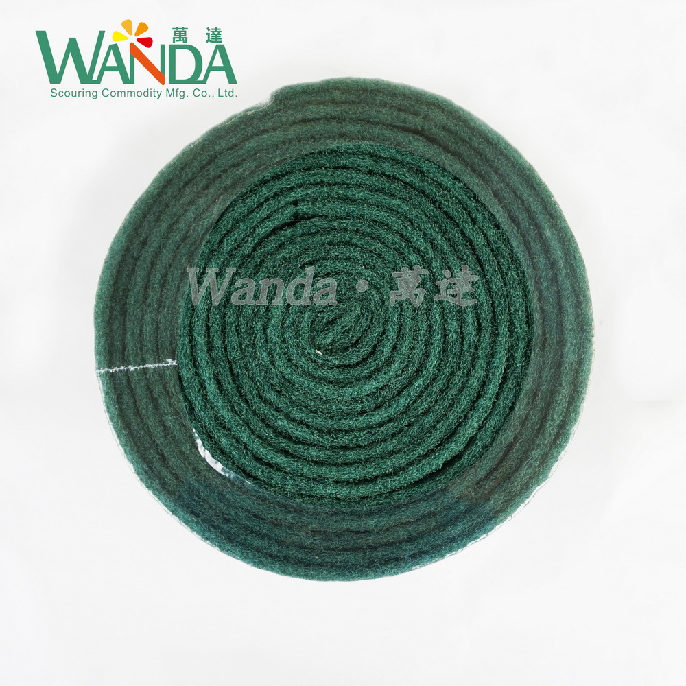 Heavy Duty Industrial Cleaning Abrasive Scouring Pad Polishing Pad in Roll