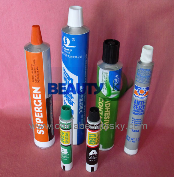 Empty Aluminum Collapsible Tube for Glue / Adhesive / Rtvsealants