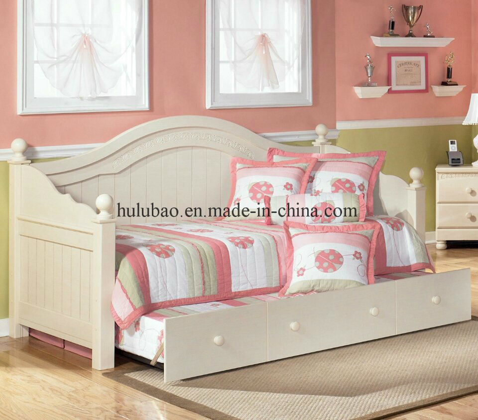 Children Furniture Baby Furniture Wooden Daybeds with Trundle