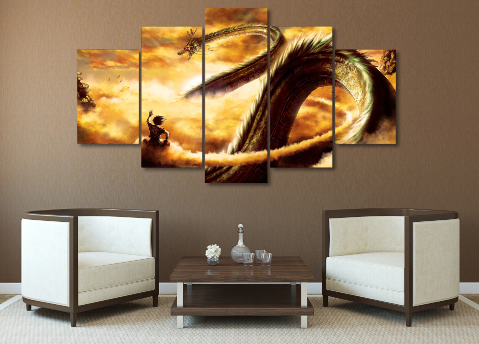 HD Printed Cartoon Dragon Ball Painting Canvas Print Room Decor Print Poster Picture Canvas Mc-032