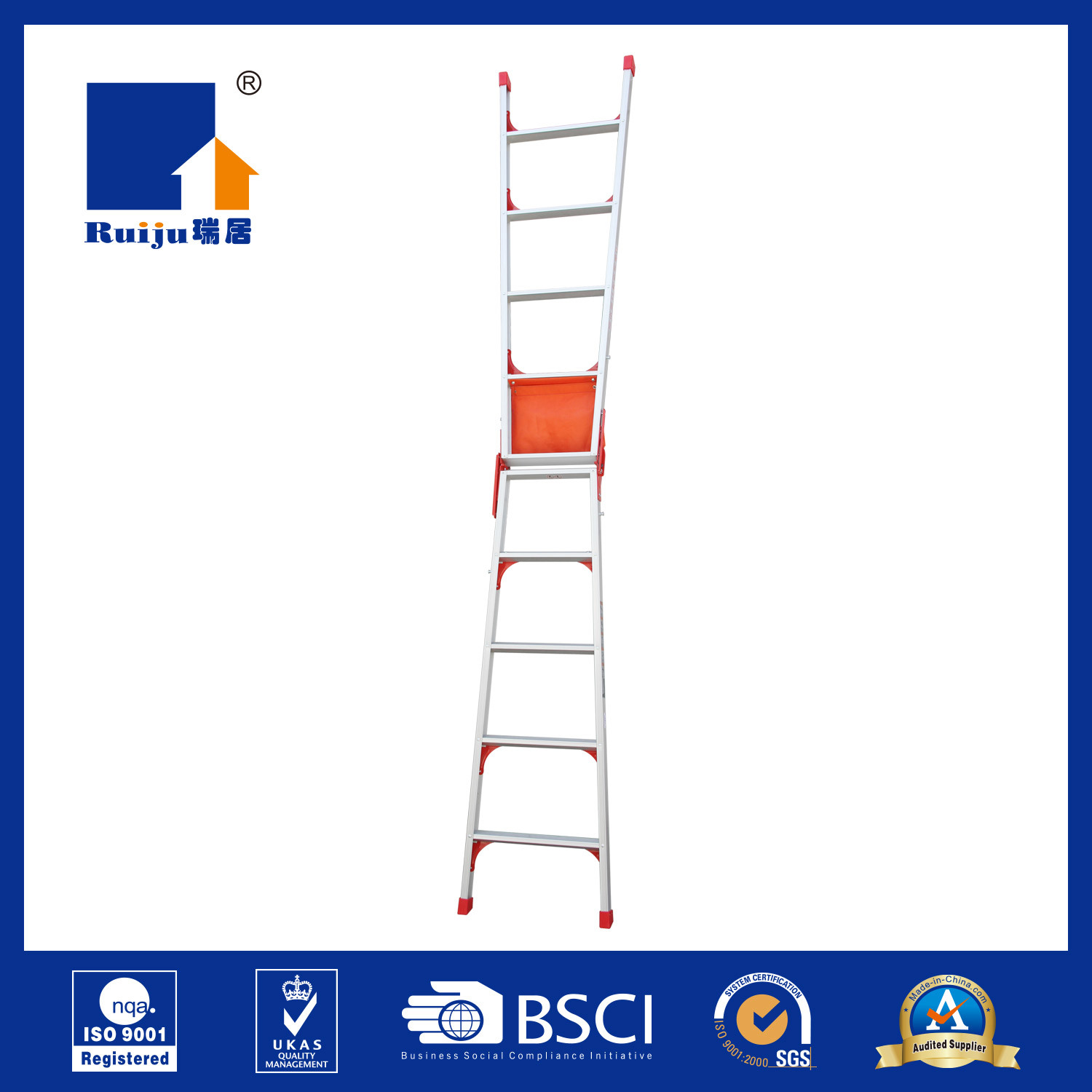 Aluminium Dual Ladder with Tool Bag