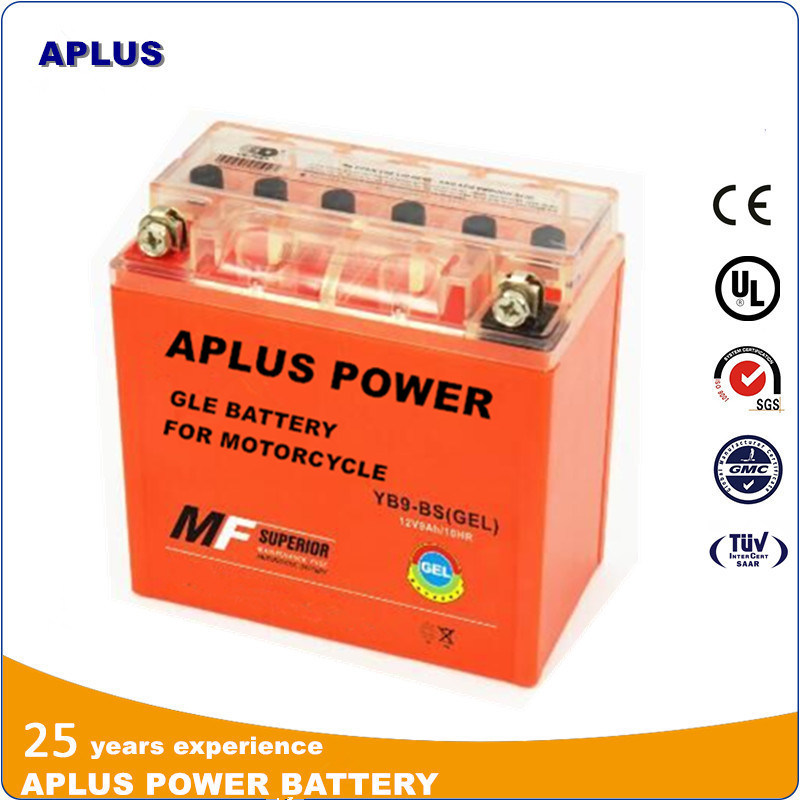 Most Popular New Gel Batteries Yb9-BS 12V 9ah for Motorcycle