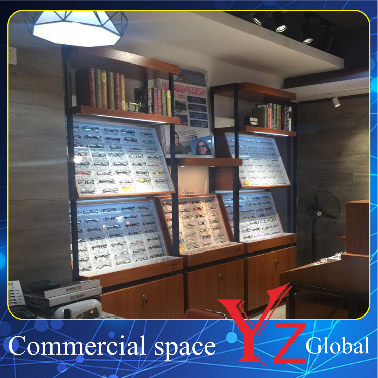 Glasses Display Cabinet (YZ160404) Glasses Showcase Glasses Exhibition Wood Cabinet