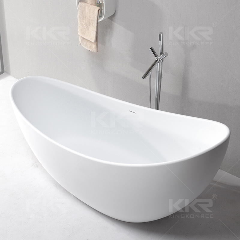 New Artificial Stone Solid Surface Freestanding Bathtub