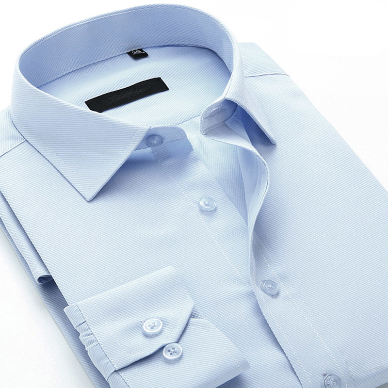 100% Cotton Mens Formal Long Sleeve Dress Shirt