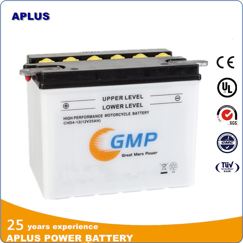 Motor Parts Dry Charge Lead Acid Battery 12V 25ah Yhd-12