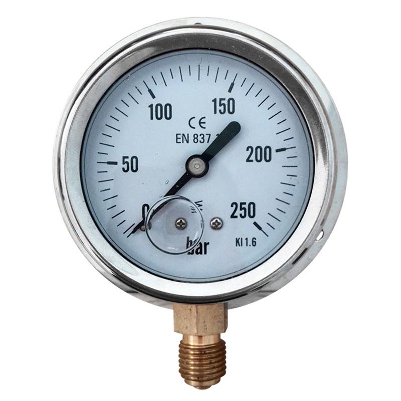 with Flange Oil Filled Pressure Gauge